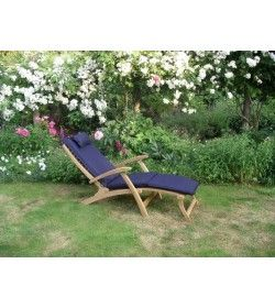 Steamer outdoor cushion - navy blue