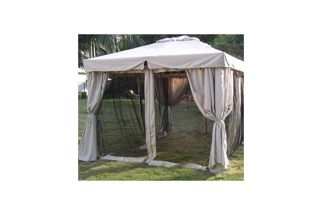 300cm x 300cm hardwood riveria gazebo with mosquito nets
