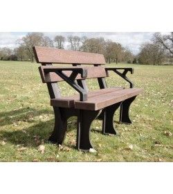 Eco park bench arms 1.3m