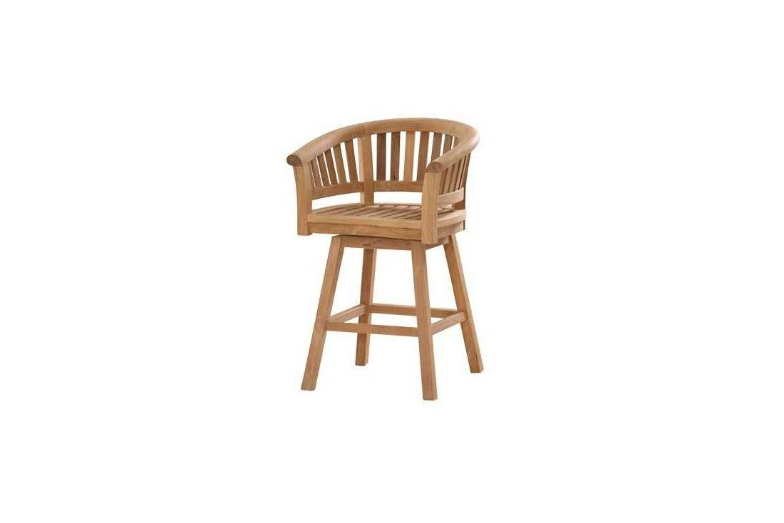 Half moon swivel bar chair