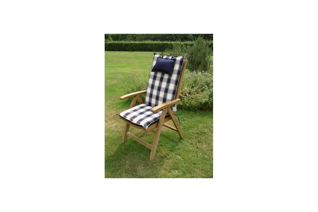 Recliner outdoor cushion - bluecheq