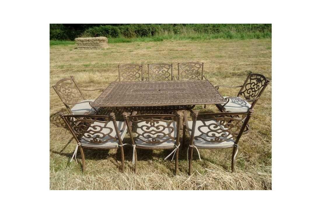 Casino 8 seater Medium Rectangle table & Swivel chairs Set