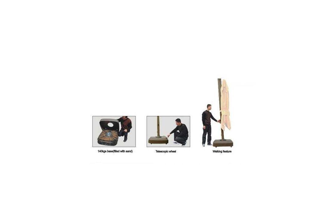 Cantilever parasol - Roma 3m square