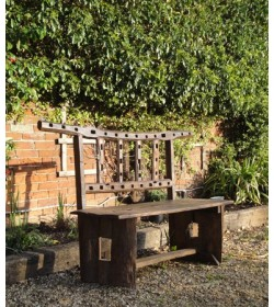 Fence post teak bench Out Of Stock