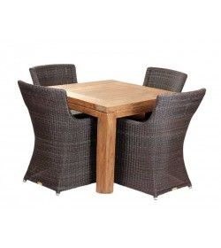 York 4 Chair Square Dining Set