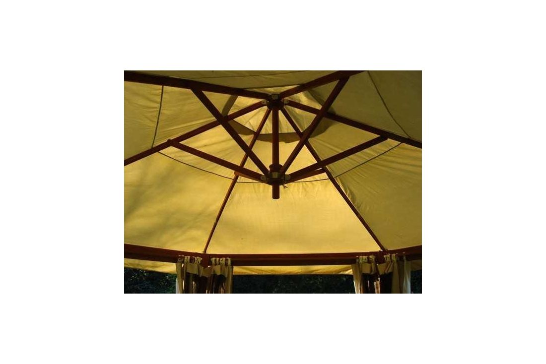 4m x 3m hardwood riveria gazebo with mosquito nets