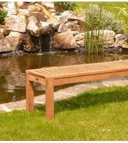Teak Backless bench - 180cm FSC