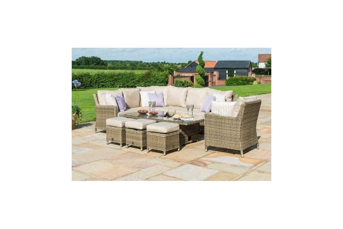 Winchester Corner Dining Set with Armchair, Ice Bucket and Rising Table
