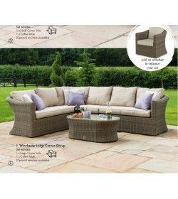Winchester Large Corner Sofa Set & Chair