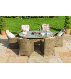 Winchester Venice 6 Seat Oval  Dining Set