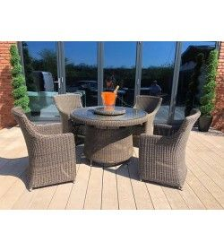 Seville 4 Chair Rattan Set