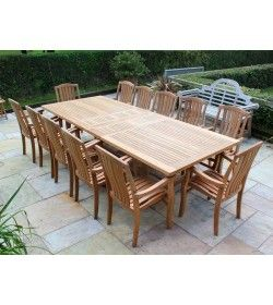 Chunky 3m Table & 12 Westminster Stacking Chairs